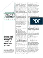 Efficiencies and Water Losses of Irrigation Systems
