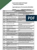 Plano de Ação e Programação para a Pré 2013