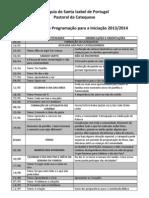 Plano de Ação e Programação para a Iniciação 2013