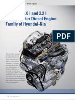 The New 2.0 l and 2.2 l Four-Cylinder Diesel Engine Family of Hyundai-Kia
