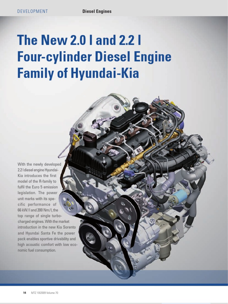 The New 2 0 L And 2 2 L Four Cylinder Diesel Engine Family
