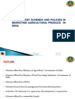 1 Agricultural Marketing Schemes and Policies