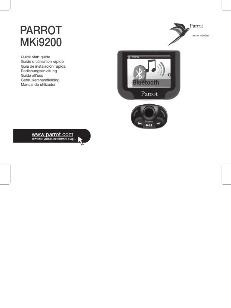 Mki9200 Mki9200 Quick Start Guide Uk Fr Sp It de Nl Pt