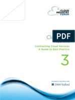 Cif White Paper 3 2011 Contracting Cloud Services Guide to Best Practice