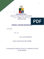 Adorno. Tesis u de Chile