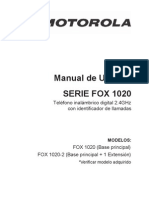 Motorola FOX1020 User Guide