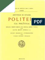 Aristoteles Politica Ver M B Jauregui 1989