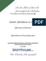 Der Glaube der Ahl-us-Sunnah ual-Jama'ah bezüglich der Sahaba