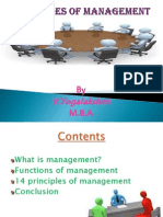 Principles of Management- MBA (Student)