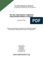 The Osu Cast System in Igboland Discrimination Based on Descent