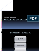 Metode de Optimizare Curs 1