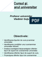 Cursul şi seminarul universitar