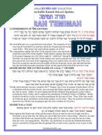 Ki Sisa - Selections from Rabbi Baruh Epsten