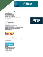 The 2013 FinTech 50
