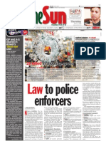 thesun 2009-03-12 page01 law to police enforcers