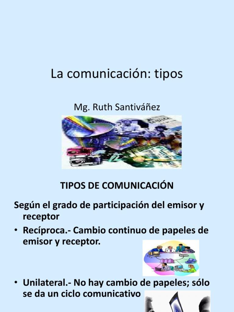 Tipos De Comunicacion Comunicación Información