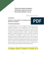 Informe de Gestion 2012 Ministerio de Interior y Justicia