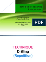 Repetition Drilling Activity