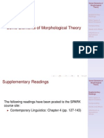 Morphological Theory