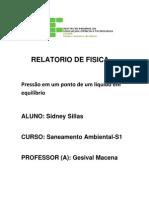 Relatorio PRESSÃO