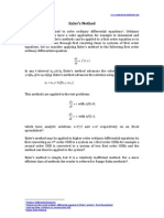 Solution of a first order ordinary differential equation by Euler's method