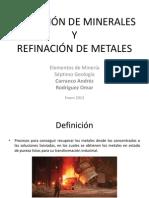 FUNDICIÓN Y REFINACIÓN