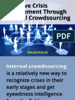 Proactive Crisis Management Through Internal Crowdsourcing