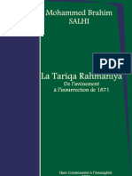 La Tariqa Rahmaniya - De l'avènement à l'insurrection de 1871 - Mohammed Brahim SALHI