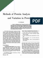 Methods of Protein Analysis