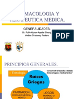 Principios Generales de la FarmacologÃ-a.