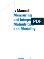Wfp Cdc a Manual Measuring and Interpreting Malnutrition and Mortality