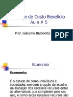 análise de custo beneficio teoria