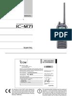 Handleiding Icom Ic m71 En