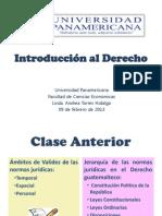 Clase 4. Introducción al Derecho 2013. Fuentes del Derecho