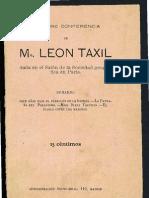 Conferencia de Leo Taxil dada en el Salón de la Sociedad geográfica en París.