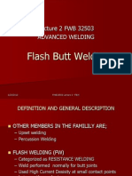 Lecture 2 Flash Butt Welding
