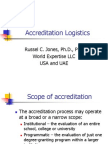 Accreditation Logistics