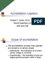 Accreditation Logistics