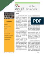 Nota Semanal 23-03-13