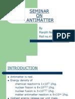 SEMINAR on Antimatter