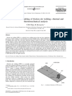 Finite Element Modeling of Friction Stir Weldingthermal and Thermomechanical Analysis