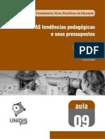 #####AS tendências pedagógicas e seus pressupostos