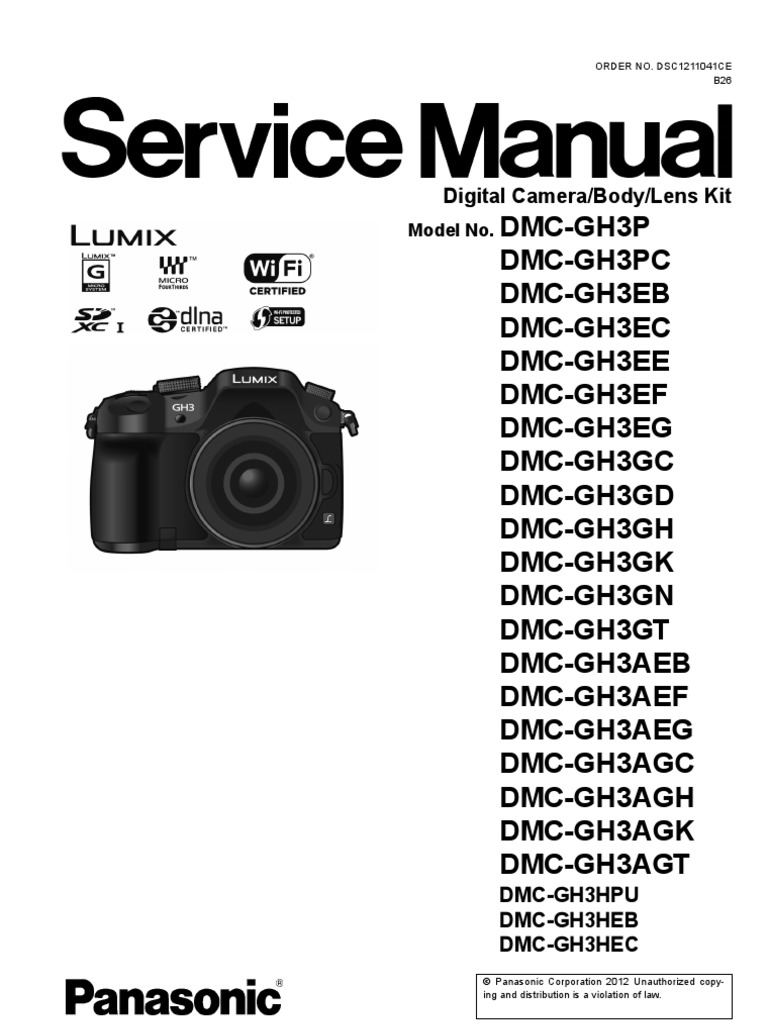 panasonic gh3 service manual electrostatic discharge rh scribd com Lumix GH1 Camera Panasonic GH1 vs GH2
