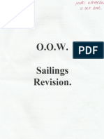 Sailings Revisions-MCA OOW Unlimited Written Exam-Nuri KAYACAN