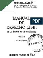 Manual de Derecho Civil - Fuentes de Las Obligaciones - Ramon Meza Barros - Tomo i