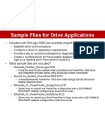 Sample Files for Drive Applications