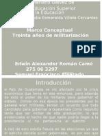 Marco conceptual-30años de militarización