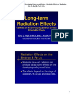 Effects of Radiation on the Developing Embryo and Fetus – Heritable Effects of Radiation