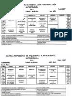 Horarios de Antropología, I semestre 2013 - UNFV