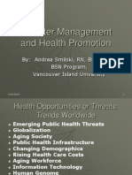 Disaster Management and Health Promotion Ads